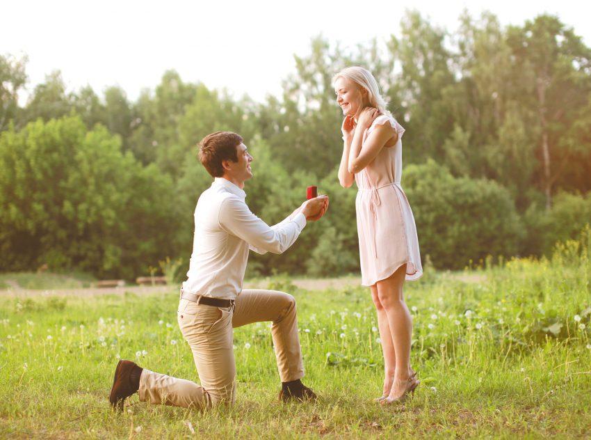 Verlobung im Park