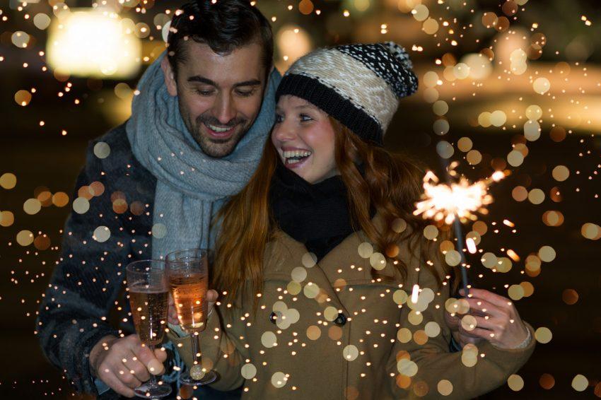 Paar an Silvester