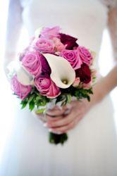 Rosa-creme Brautstrauß
