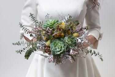 Origineller exotischer Brautstrauß
