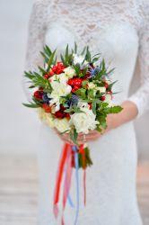 Leuchtender Brautstrauß