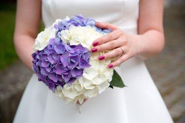 Brautstrauß Hortensien