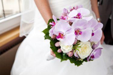 Brautstrauß aus Orchideen