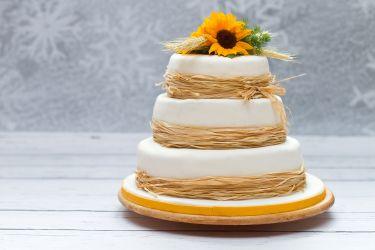 Rustic Hochzeitstorte