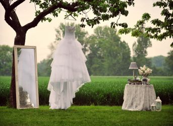 Hochzeitstisch im Freien