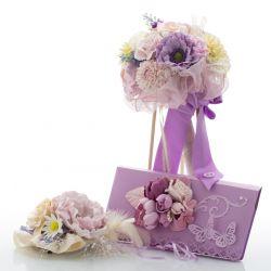 Hochzeits Dekoration lila