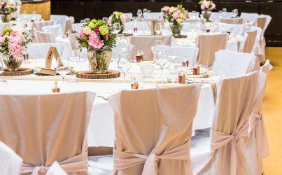 Festlicher Hochzeitstisch