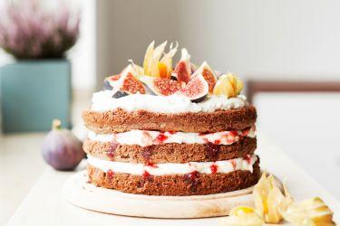 Naked Cake mit Feigen